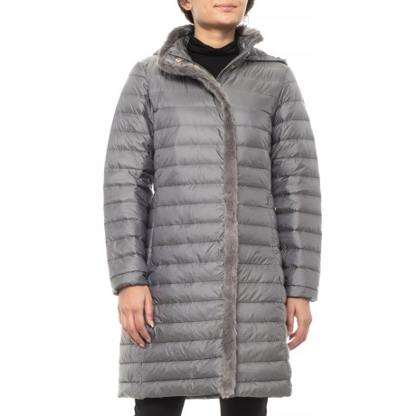 bcf3d84fe6f Cole Haan Signature Faux-Fur-Lined Long Down Coat (For Women) - Save 46%