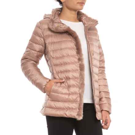 Cole Haan Signature Faux-Fur-Lined Short Down Coat (For Women) in Blush - Closeouts