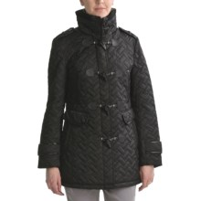 Cole Haan Signature Quilted Toggle Coat (For Women) in Black - Closeouts
