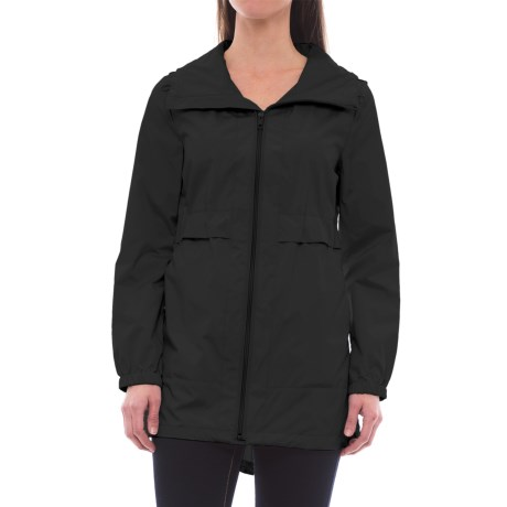 Cole Haan Signature Sporty Packable Rain Jacket (For Women) in Black