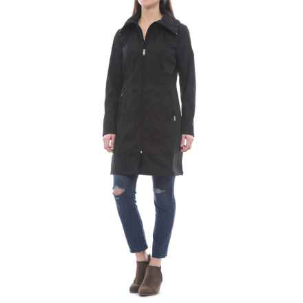 Cole Haan Single-Breasted Packable Rain Jacket (For Women) in Black - Closeouts