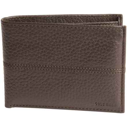 Cole Haan Slim Leather Wallet (For Men) in Chocolate - Closeouts