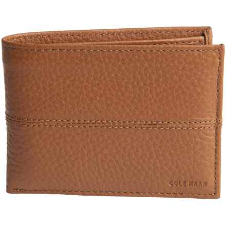 Cole Haan Slim Leather Wallet (For Men) in Cognac - Closeouts