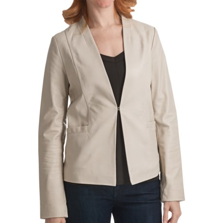 Cole Haan Smooth Lamb Jacket (For Women) in Clay