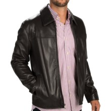 Cole Haan Smooth Lambskin Jacket (For Men) in Black - Closeouts