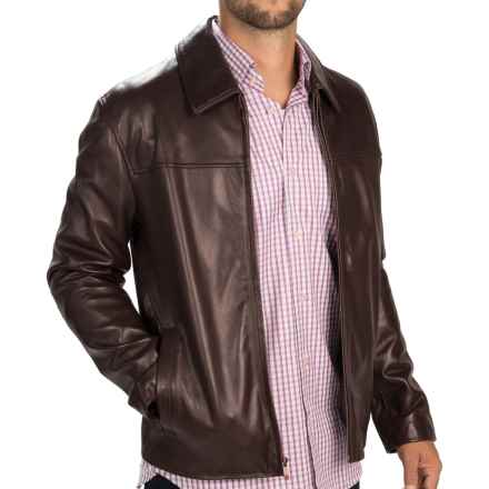 Cole Haan Smooth Lambskin Jacket (For Men) in Java - Closeouts