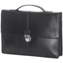 Cole Haan Smooth Leather Briefcase in Black - Closeouts