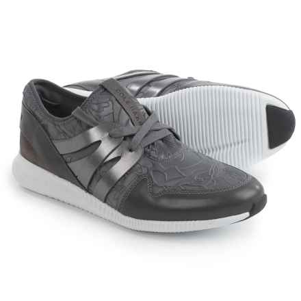 Cole Haan Studiogrand Embossed Floral Sneakers - Leather (For Women) in Pavement Grey - Closeouts