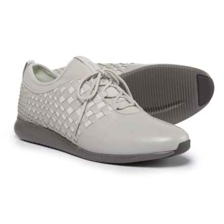 Cole Haan StudioGrand Weave Sneakers - Leather (For Women) in Vapor Gray Leather/Mnt - Closeouts