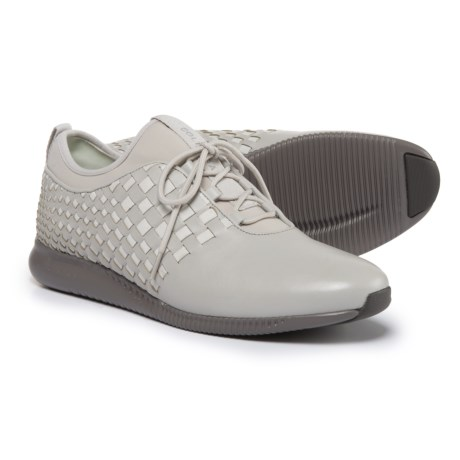 Cole Haan StudioGrand Weave Sneakers - Leather (For Women) in Vapor Gray Leather/Mnt