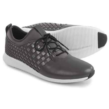 Cole Haan StudioGrand Woven Sneakers - Leather (For Women) in Pavement/Dark Silver/White - Closeouts