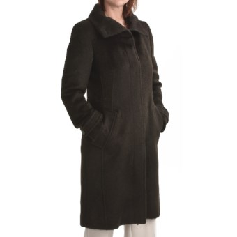 Cole Haan Suri Alpaca Coat (For Women) in Chocolate