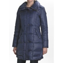 Cole Haan Travel Packable Down Coat - Oversized Collar (For Women) in Cobalt - Closeouts