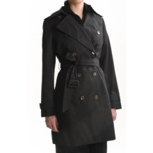 Cole Haan Trench Coat (For Women) in Black - Closeouts