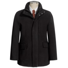 Cole Haan Twill Car Coat - Wool Blend (For Men) in Black - Closeouts