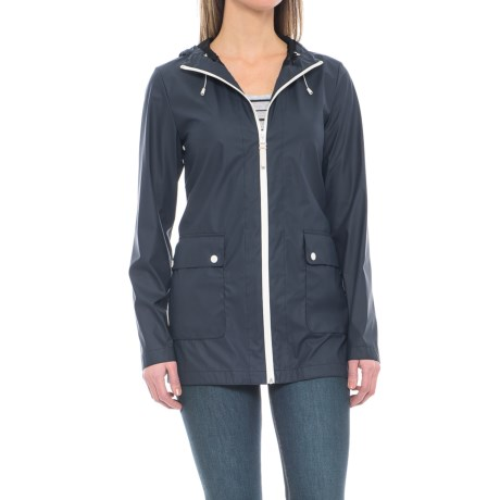 Cole Haan Water-Resistant Anorak Jacket (For Women) in Navy