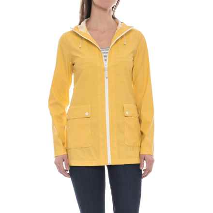 Cole Haan Water-Resistant Anorak Jacket (For Women) in Spectra Yellow - Closeouts