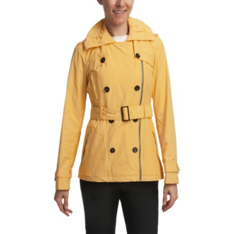 Cole Haan Water-Resistant Hooded Jacket (For Women) in Yellow