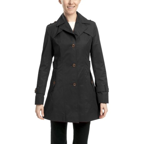 Cole Haan Water-Resistant Trench Jacket (For Women) in Black