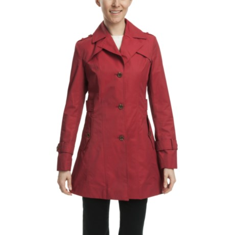 Cole Haan Water-Resistant Trench Jacket (For Women) in Red