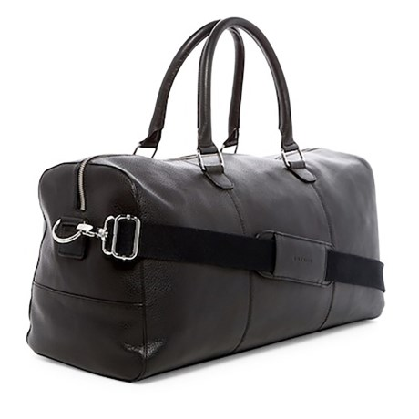 Cole Haan Weekend Leather 22L Duffel Bag (Black)