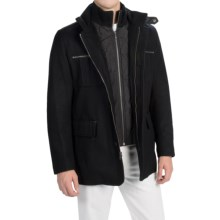 Cole Haan Wool-Blend Blazer Coat - Zip-Out Bib, Insulated (For Men) in Black - Closeouts