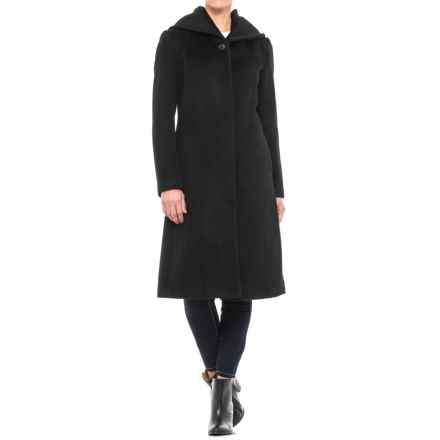 Cole Haan Wool Coat - Shawl Collar (For Women) in Black - Closeouts