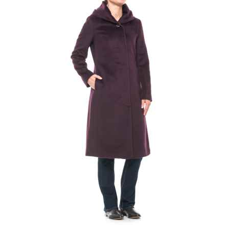 Cole Haan Wool Coat - Shawl Collar (For Women) in Wine - Closeouts