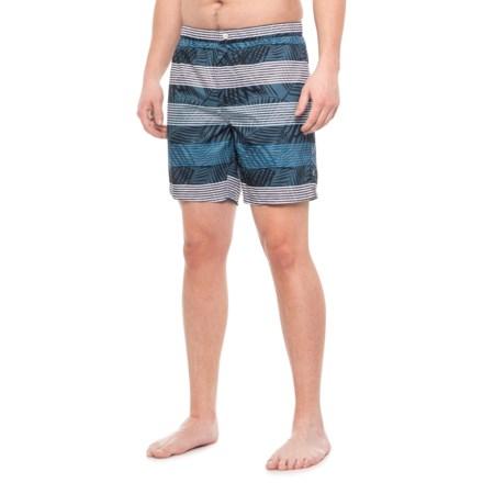1f93e945a7 Cole Stripe Print Swim Trunks - UPF 30+ (For Men) in Blue -