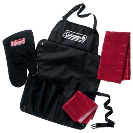 Coleman Barbecue Chef Set - 4-Piece in Black/Red - Closeouts