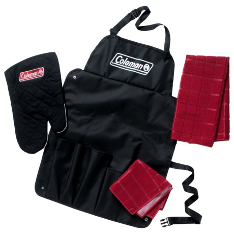 Coleman Barbecue Chef Set - 4-Piece in Black/Red