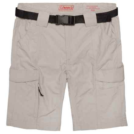 Coleman Belted Hiking Shorts - UPF 50 (For Big Boys) in Cement - Closeouts