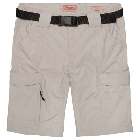 Coleman Belted Hiking Shorts - UPF 50 (For Big Boys) in Cement