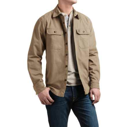 Coleman Canvas Shirt Jacket - Flannel Lined (For Men) in Mountain Khaki - Closeouts