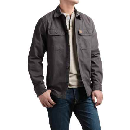 Coleman Canvas Shirt Jacket - Flannel Lined (For Men) in Raven - Closeouts