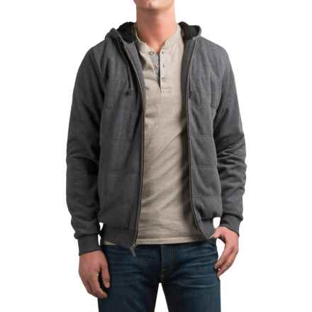 Coleman Channel-Quilted Hoodie (For Men) in Charcoal - Closeouts