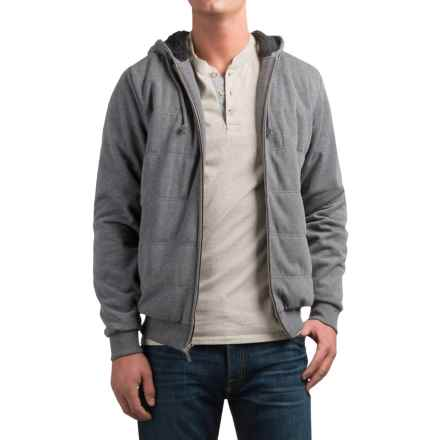 Coleman Channel-Quilted Hoodie (For Men) in Shale Heather - Closeouts