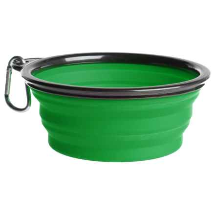 Coleman Collapsible Dog Bowl - 33 fl.oz. in Green - Closeouts
