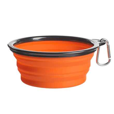Coleman Collapsible Dog Bowl - 33 fl.oz. in Orange - Closeouts