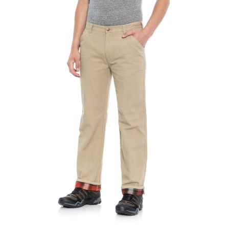 Coleman Flannel-Lined Pants (For Men) in Mountain Khaki - Overstock