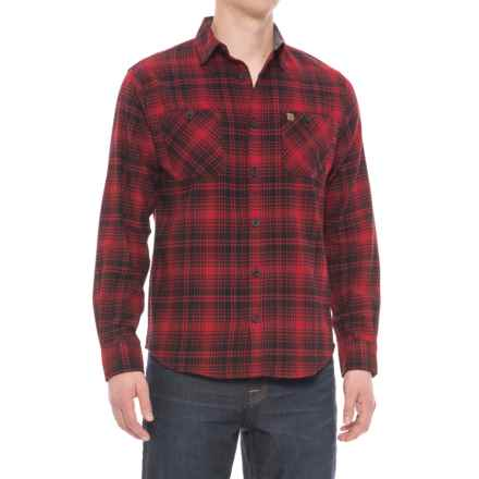 Coleman Flannel Shirt - Long Sleeve (For Men) in Black/Red - Closeouts