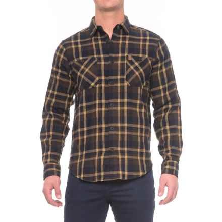Coleman Flannel Shirt - Long Sleeve (For Men) in Brown/Navy - Closeouts