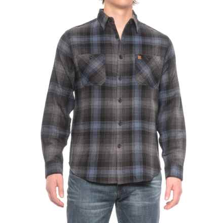 Coleman Flannel Shirt - Long Sleeve (For Men) in Charcoal/Navy - Closeouts