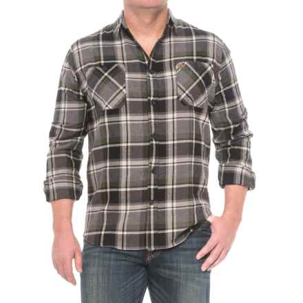 Coleman Flannel Shirt - Long Sleeve (For Men) in Grey/Olive - Closeouts