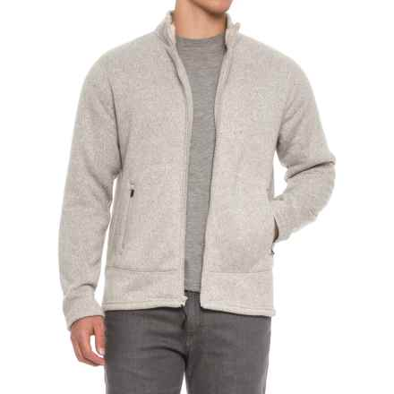 Coleman Fleece Bonded Full-Zip Sweater (For Men) in Oatmeal Heather - Closeouts
