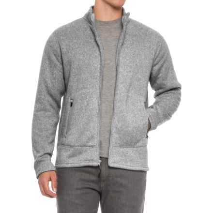 Coleman Fleece Bonded Full-Zip Sweater (For Men) in Shale Heather - Closeouts