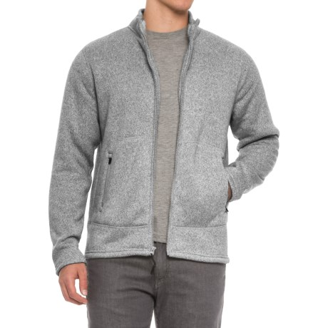 Coleman Fleece Bonded Full-Zip Sweater (For Men) in Shale Heather