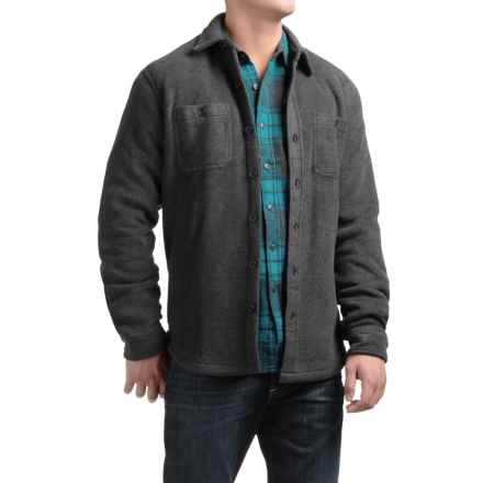 Coleman Fleece Shirt Jacket - Sherpa Lined (For Men) in Charcoal Heather - Closeouts