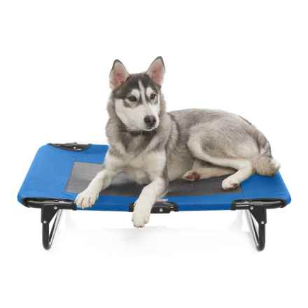 "Coleman Folding Dog Cot - 20x30"" in Blue - Closeouts"