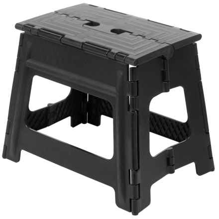 "Coleman Folding Step Stool - 9"" in Black - Closeouts"